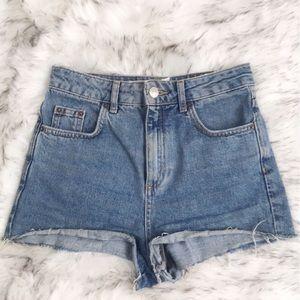 Topshop Moto Mom Jean High Waist Shorts Size USA 2